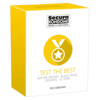 Secura Test the Best – výber kondómov (100ks)