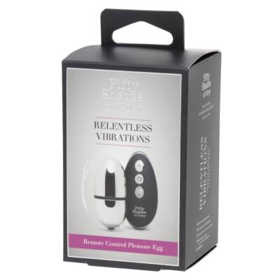 Fifty Shades of Gray Ruthless Egg - Cordless Vibrating Egg (Silver-Black)