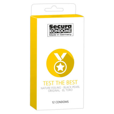 Secura Test the Best - Condom Selection (12 Pcs)