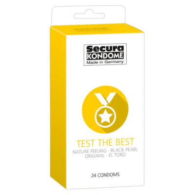 Secura Test the Best - Condom Selection (24pcs)