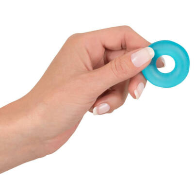 Stretchy Cockring Frosted Blau