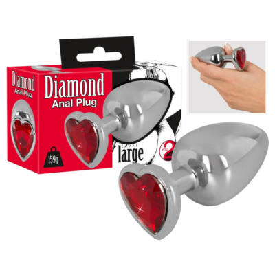 Diamond - 159g Aluminum Dumbbell (Silver-Red)