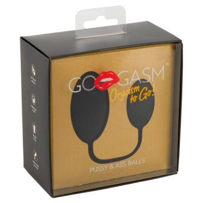 GoGasm Pussy & Ass - Anal and Vaginal Ball Duo (Black)