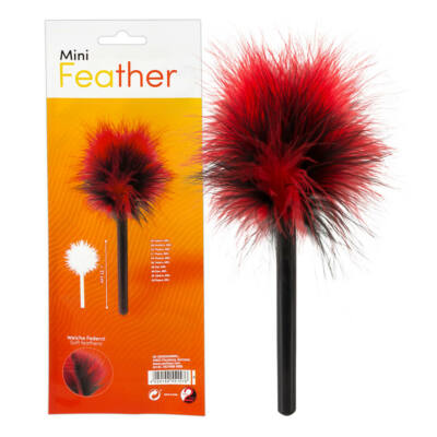 You2Toys Mini - real feather caress (black-red)