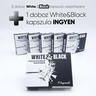 White & Black - strong, dietary supplement for men (4pcs) 5+1