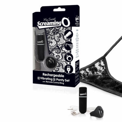 The Screaming O - Charged Remote Control Panty Vibe Black
