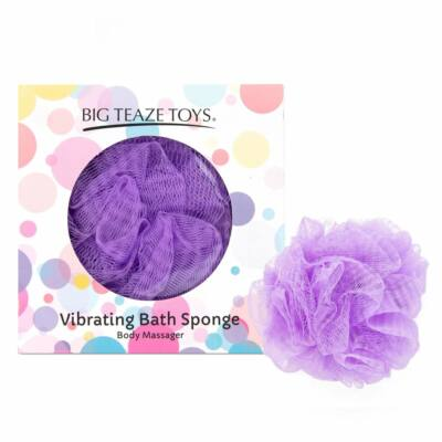 BIG TEAZE TOYS - BATH SPONGE VIBRATING PURPLE